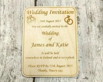 Wedding keepsake invitations