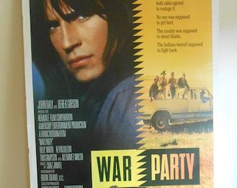 War Party (1988) Original Movie Poster John Daly Kevin Dillon 27x40