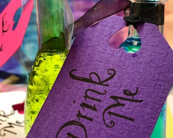 Alice in Wonderland Drink Me Tags|Drink Me Tags|Alice in Wonderland Decorations|Alice in Wonderland Drink Tags|Drink Me Alice In Wonderland