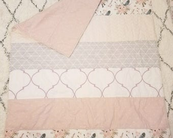 Modern Boho Quilt   Boho Nursery   Girl Nursery Bedding