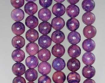 8mm Purple Violet Turquoise Jasper Gemstone Round 8mm Loose Beads 16 inch Full Strand (90186753-769)