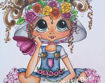 INSTANT DOWMLOAD Digital Digi Stamps Big Eye Big Head Dolls Digi Img162  New Daisy March My Besties Tm  By Sherri Baldy
