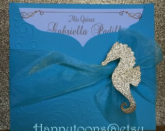 Under the sea quinceaera invitations Sweet sixteen