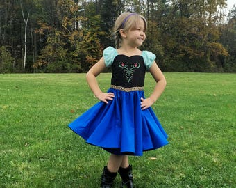 Anna dress, princess dress , princess Anna dress, Anna costume