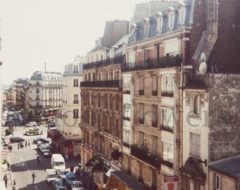 Ein Raum mit einer Ansicht Paris 8 x 8 Print Frankreich Stadt Pariser Dekor