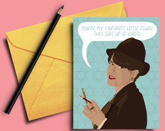 """Broad City """"Val"""" Greeting Card - Abbi Jacobson, Birthday Card, Jewish, Best Friend, St Louis, Sister, Co-worker, Bat Mitzvah, Mother's Day"""