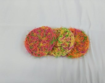 Crochet kitchen dish scrubber (set of 3)