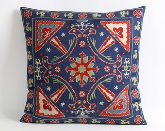 18x18 suzani pillow cover