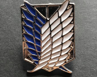 Attack on Titan - Scout Regiment - Survey Corps - shingeki no kyojin - Charm, Badge, Stainless Steel, Enamel Pin - Gift for anime fan manga