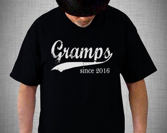 Gramps since ANY year screen print t-shirt, mens birthday gift, t shirt for men, graphic tee, grandfather tshirt, Father's Day gift