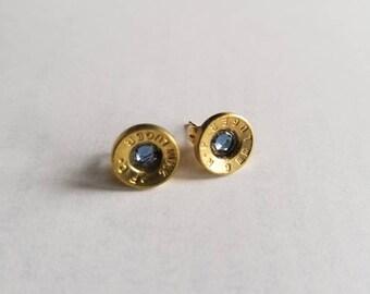 9mm bullet earrings