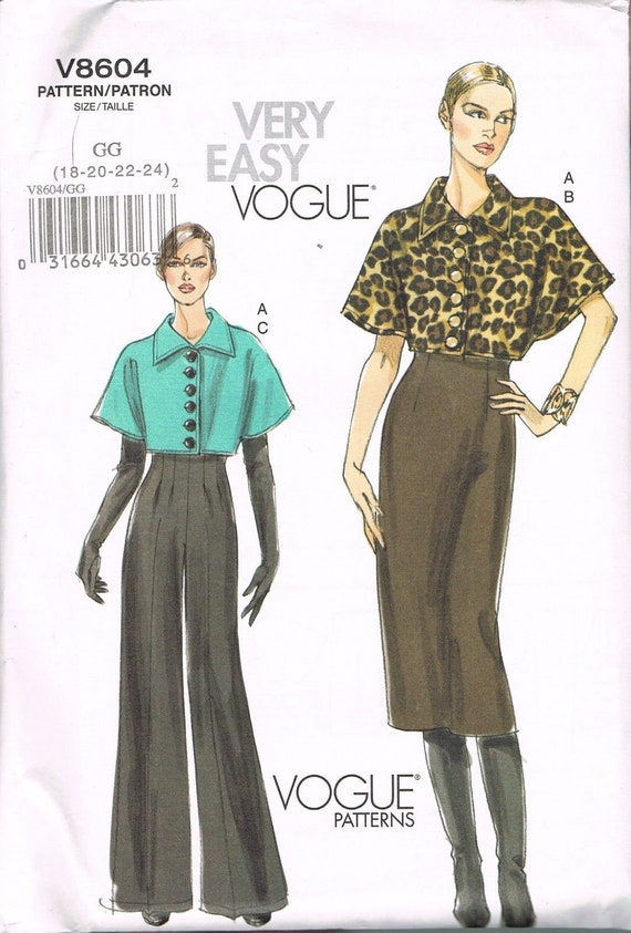 Size 18-24 Misses Plus Size Skirt & Jacket Sewing Pattern