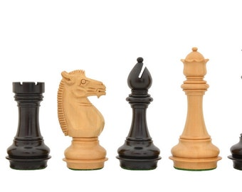 """Meghdoot Collector Series Chess Pieces in Stained Dyed & Box Wood - 4.5"""" King. SKU: R0305"""