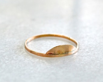 Sunrise Ring - gold semi circle ring, silver half moon ring, stacking ring, rose gold semi circle ring, nautical jewelry