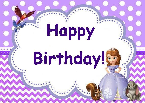 SOFIA THE FIRST Birthday Party Card Set Instant Download - Sofia the first party invitation template