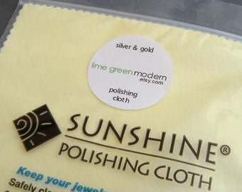 Sunshine polishing cloth. LG large size sterling silver polish pad. tarnish remover. jewelry cleaner. gold. silver. brass. copper polisher
