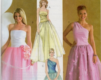 McCall's Evening Elegance Gown Pattern 4377 QUINCEANERA/SOUTHERN BELLE Misses Sizes 10 12 14 16