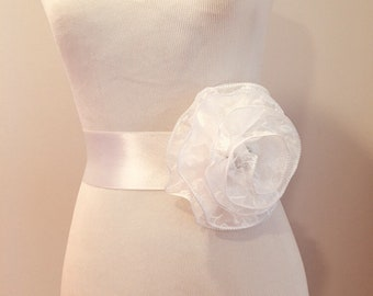 Brocade bridal sashes