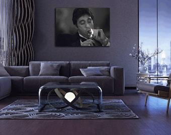 Scarface Lighting a Cuban 36 x 24 Hi Res Canvas Art Print Home Decor Home Decor  sc 1 st  Etsy & Art lighting | Etsy