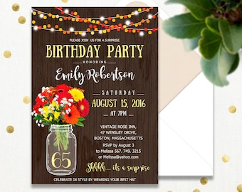 surprise birthday cards invitations
