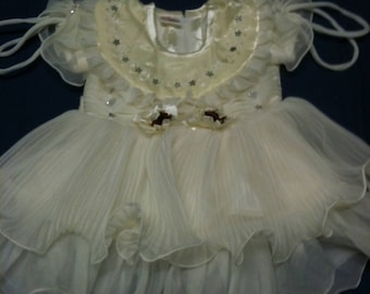 Princesse1 year - 18 months-ceremony gown / dress girl 1 year/baptism-wedding / yellow chick/embedding girl dress
