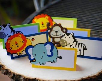 Jungle Safari Birthday Party PlaceCard Food Tents, Jungle Birthday Party, Safari Shower, Jungle Shower