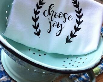 Farmhouse Decor Kitchen Choose Joy Flour Sack Dish Towel Floursack Tea Towels  Farm Font Housewarming Christmas - Wedding Centerpiece Gift