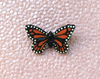 Monarch Butterfly Pin // Mariposa Brooch //  Migration is Beautiful // Hand sculpted brooch