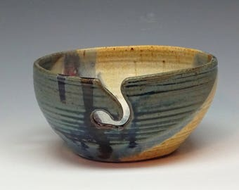 Pottery Yarn Bowl, Yarn Bowl, Ayers Pottery