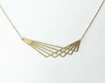 Geometric Lines Necklace | Large | ATL-N-113