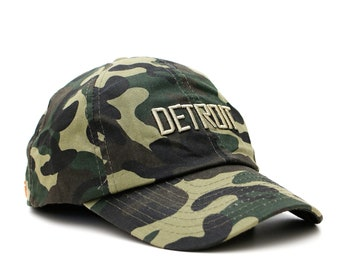 Camouflage Detroit snapback hat