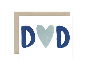 Heart Dad - Father's Day Card