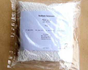 Sodium benzoate (E211) - 99.5% pharm. grade preservative 50-100-200-400-800g FREE shipping
