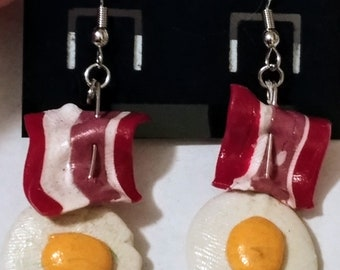 Bacon and Eggs Earrings