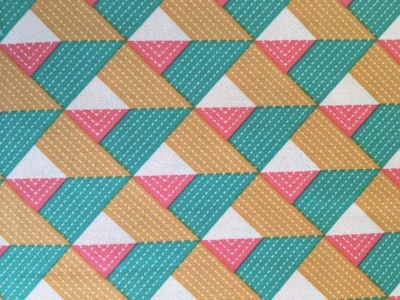 Free Spirit Fabrics Joel Dewberry Bungalow Chevron Emerald  1/2 yard