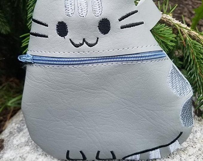 Plush Kitty Zippered Bag