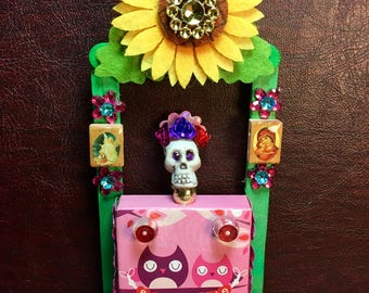 Day-of-the-Dead Valentine Booth Nicho / Dia de los Muertos Miniature Shrine / All Souls Day Altar Decor