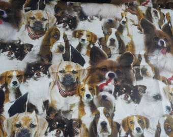 "fabric ""pictures of dogs"" cotton"