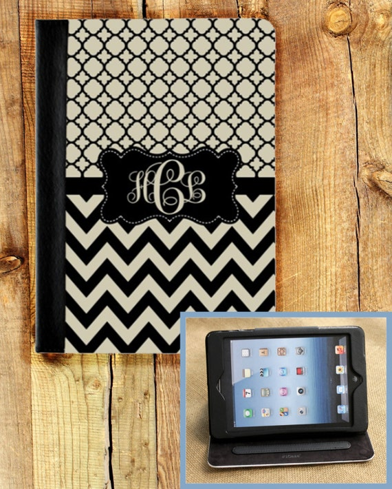 iPad Air iPad 2 iPad 3 iPad Air iPad Mini Masker Case Cover Monogrammed Personalized Custom Adjustable Angle View Stand Notebook Case