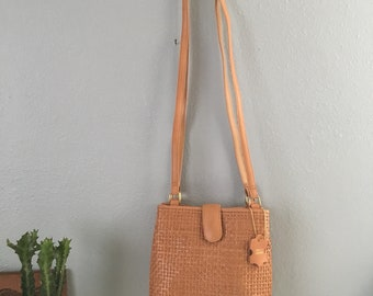 Vintage Cee Klein Woven Leather Shoulder Bag