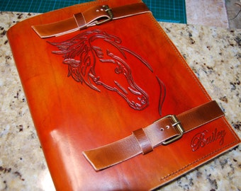 Leather Journal Large, Horse Journal, Leather Notebook, Handmade Journal, A4 Journal, Gift for Her, Gift for Him, Leather Diary