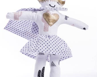 Rag doll superhero Miss Kipik-Fabric rag doll