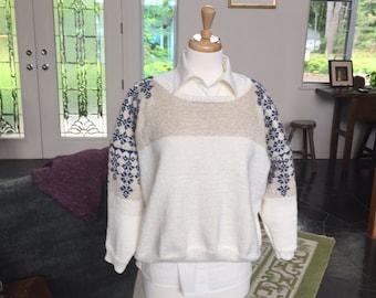 Silk Fairisle Pull Over Sweater