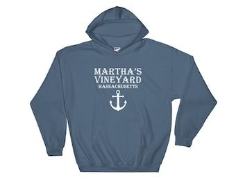 Martha's Vineyard Hoodie Massachusetts Hooded Sweatshirt