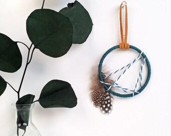 Small Dreamcatcher - Modern Rustic Dream Catcher - Gifts Under 20 - Boho Chic Home Decor - Modern Boho Dreamcatcher - Bohemian Ornament
