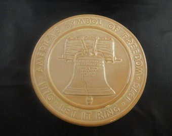 Frankoma Pottery Liberty Bell Let It Ring Trivet
