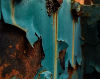 train photography rust abandoned decay 8x10 11x14 16x20