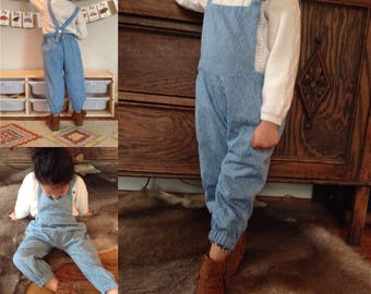 Kid's Overalls PDF Sewing Pattern, Dungarees