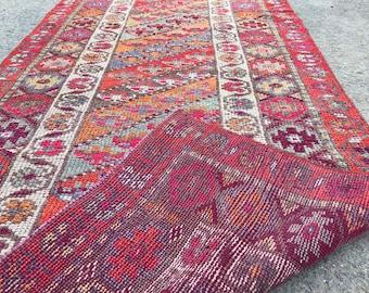 9'9x3'3 ft,Turkish runner rug,pastel runner,oushak runner,wool rug,home decor,anatolian runner,turkish rug runner,Hallway rug,