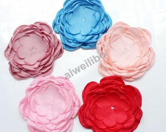 Fabric Flower Appliques, Flower Appliques, Flowers For Crafts, Diy Flowers H100020